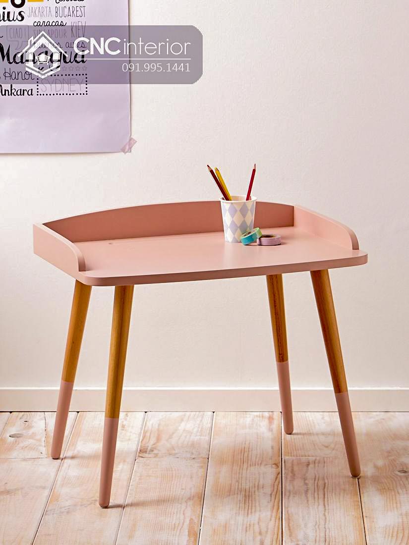Bàn học gỗ đơn giản cho bé mẫu giáo CNC 17 4