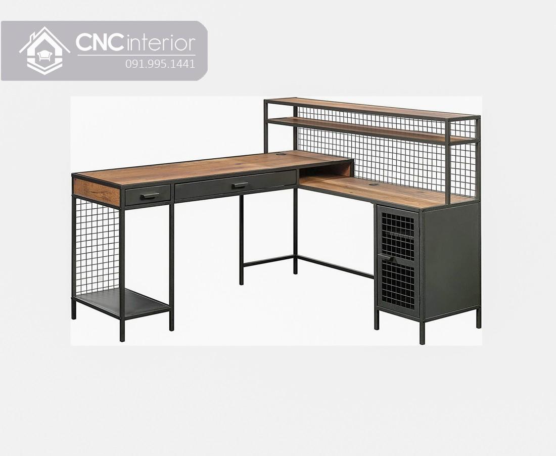 Bàn làm việc chân sắt phong cách Industrial CNC 30 2