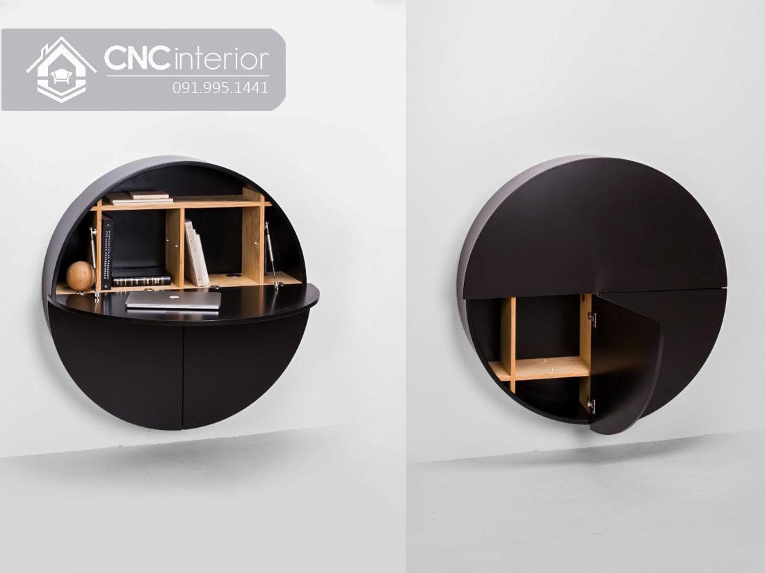 Bàn làm việc treo tường hình tròn độc đáo CNC 03 2