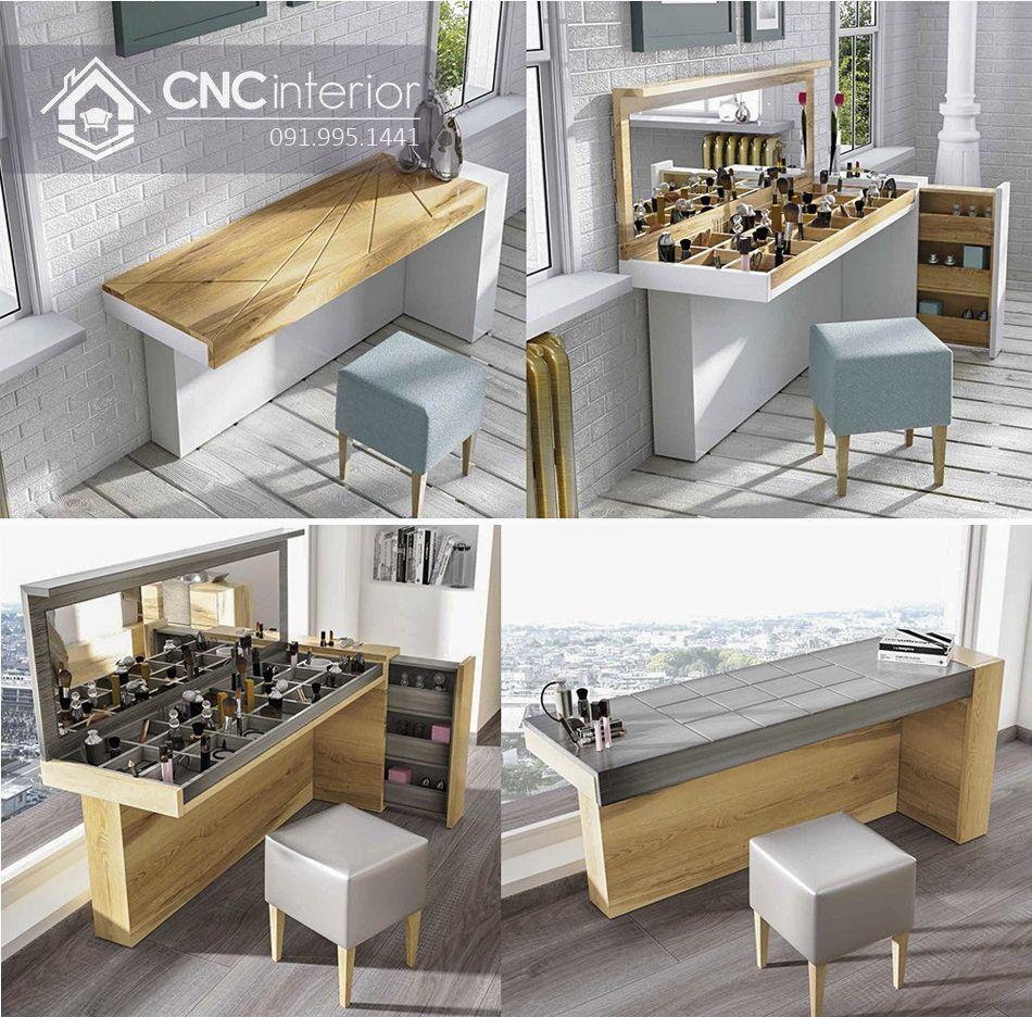 Bàn phấn kết hợp bàn làm việc tiện dụng CNC 21 2
