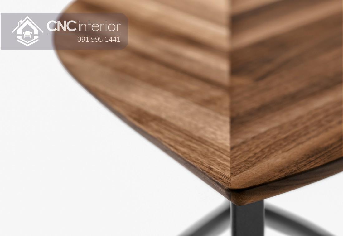 Bàn trà gỗ công nghiệp veneer óc chó cao cấp CNC 03 5
