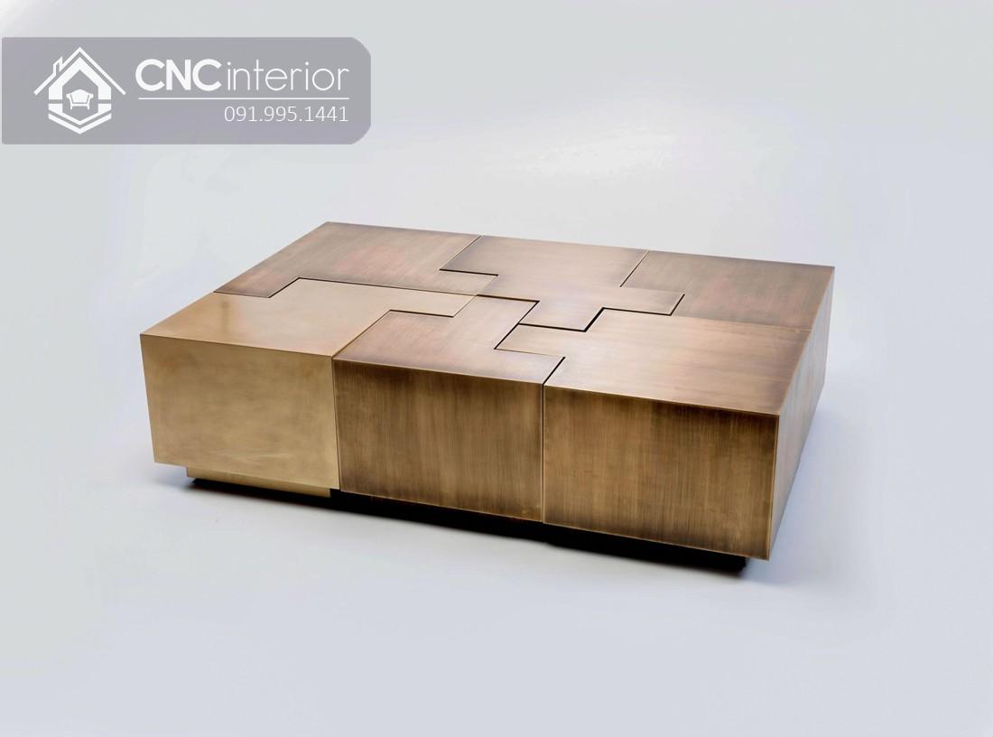 Bàn trà hình chữ nhật bằng gỗ công nghiệp CNC 05