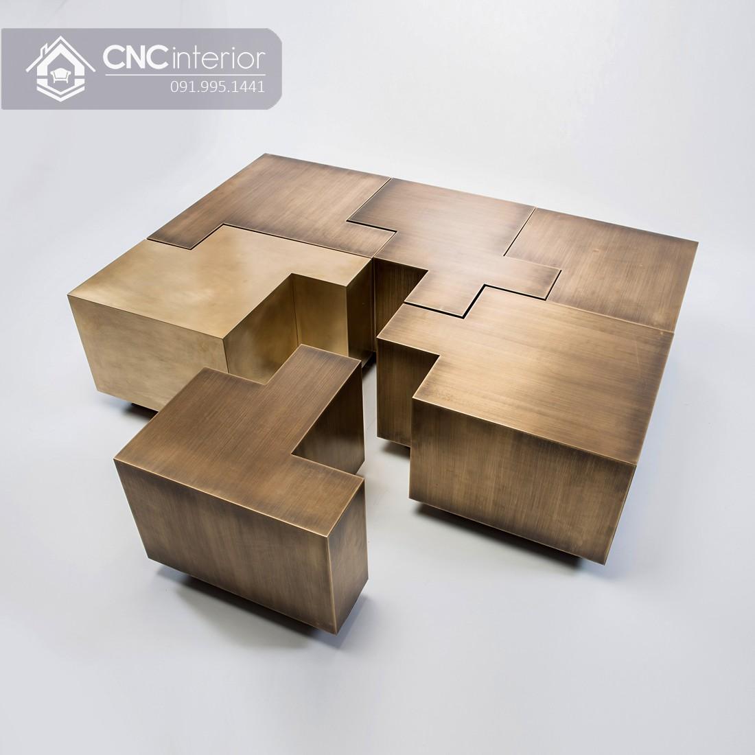 Bàn trà hình chữ nhật bằng gỗ công nghiệp CNC 05 1