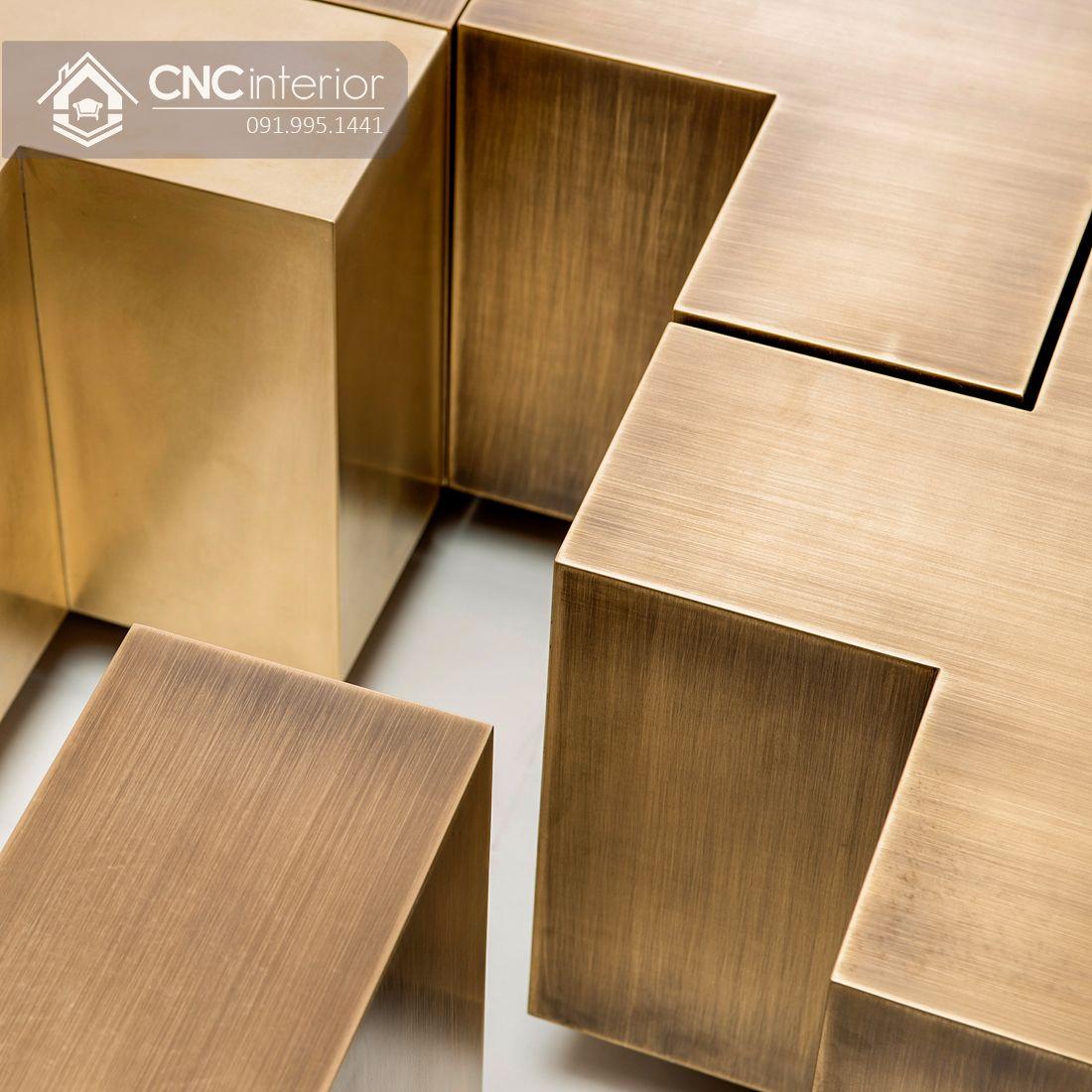 Bàn trà hình chữ nhật bằng gỗ công nghiệp CNC 05 2