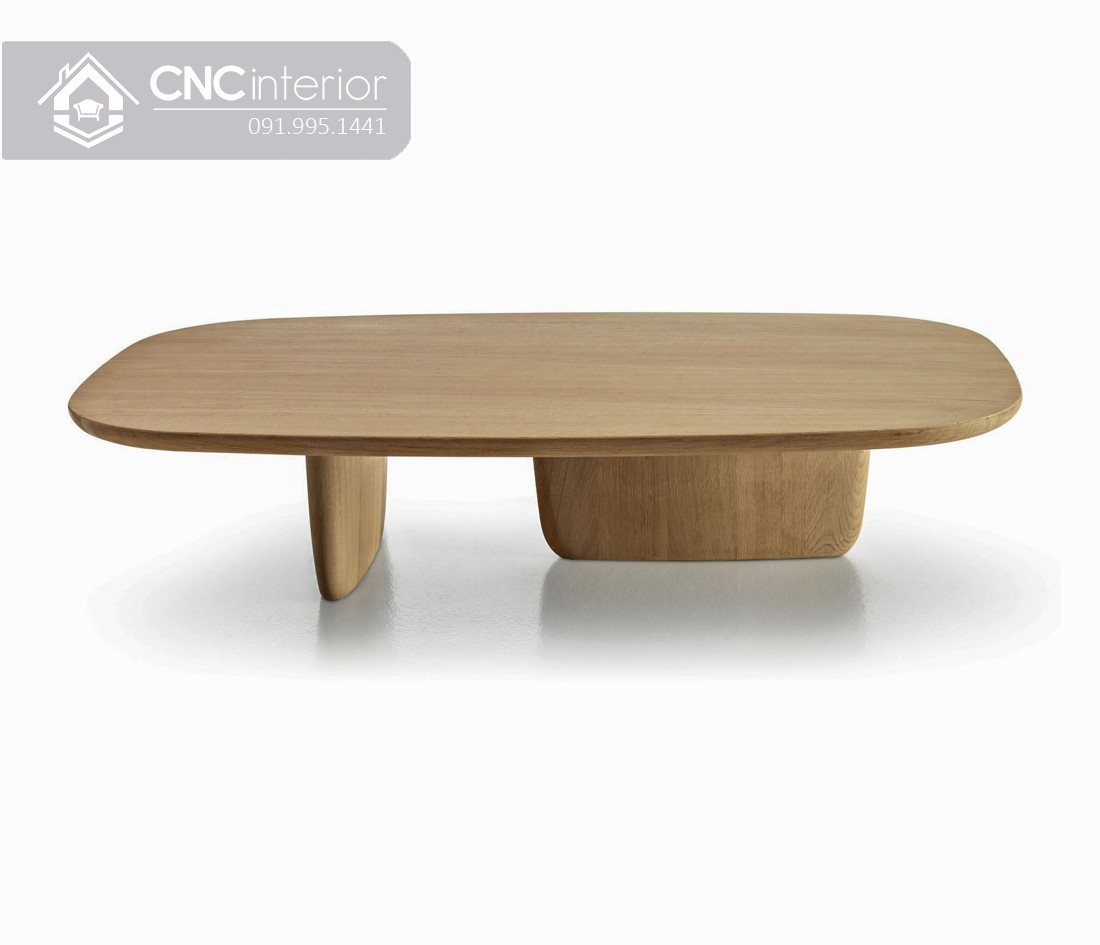 Bàn trà hình oval đơn giản hiện đại CNC 08