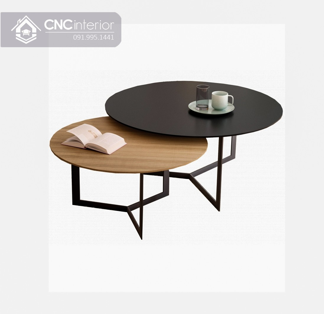 Bàn trà đôi hình tròn CNC 12
