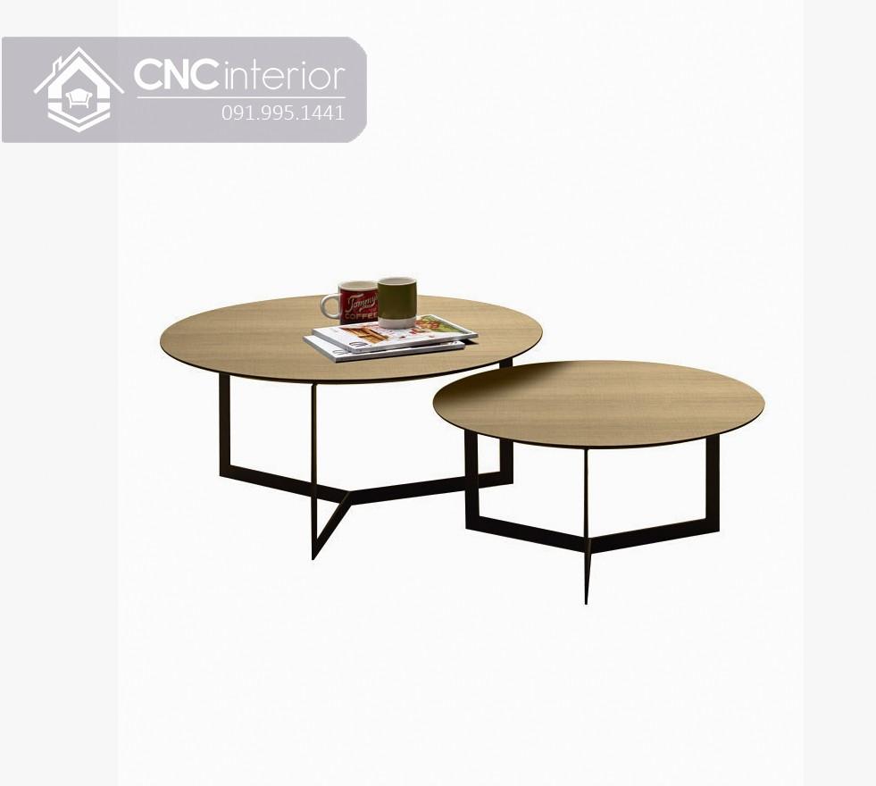 Bàn trà đôi hình tròn CNC 12 1