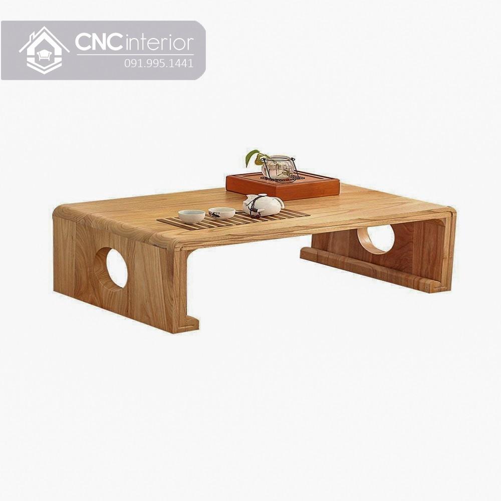 Bàn trà làm bằng gỗ sồi tự nhiên bền chắc CNC 16 2
