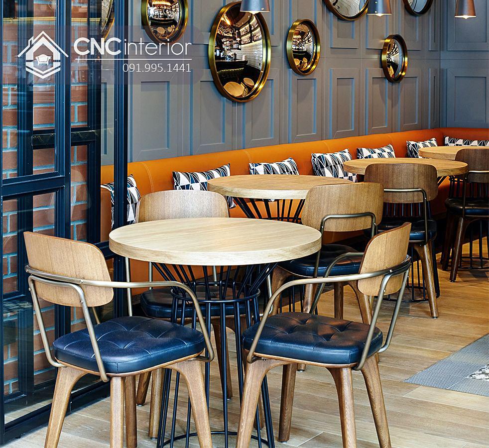 Bàn tròn nhà hàng cnc 06