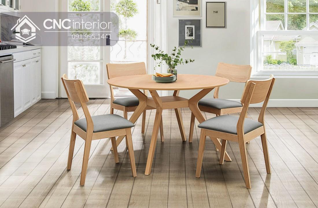 Bộ bàn ăn đẹp CNC 46