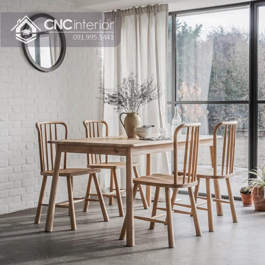 Bộ bàn ăn đẹp CNC 50