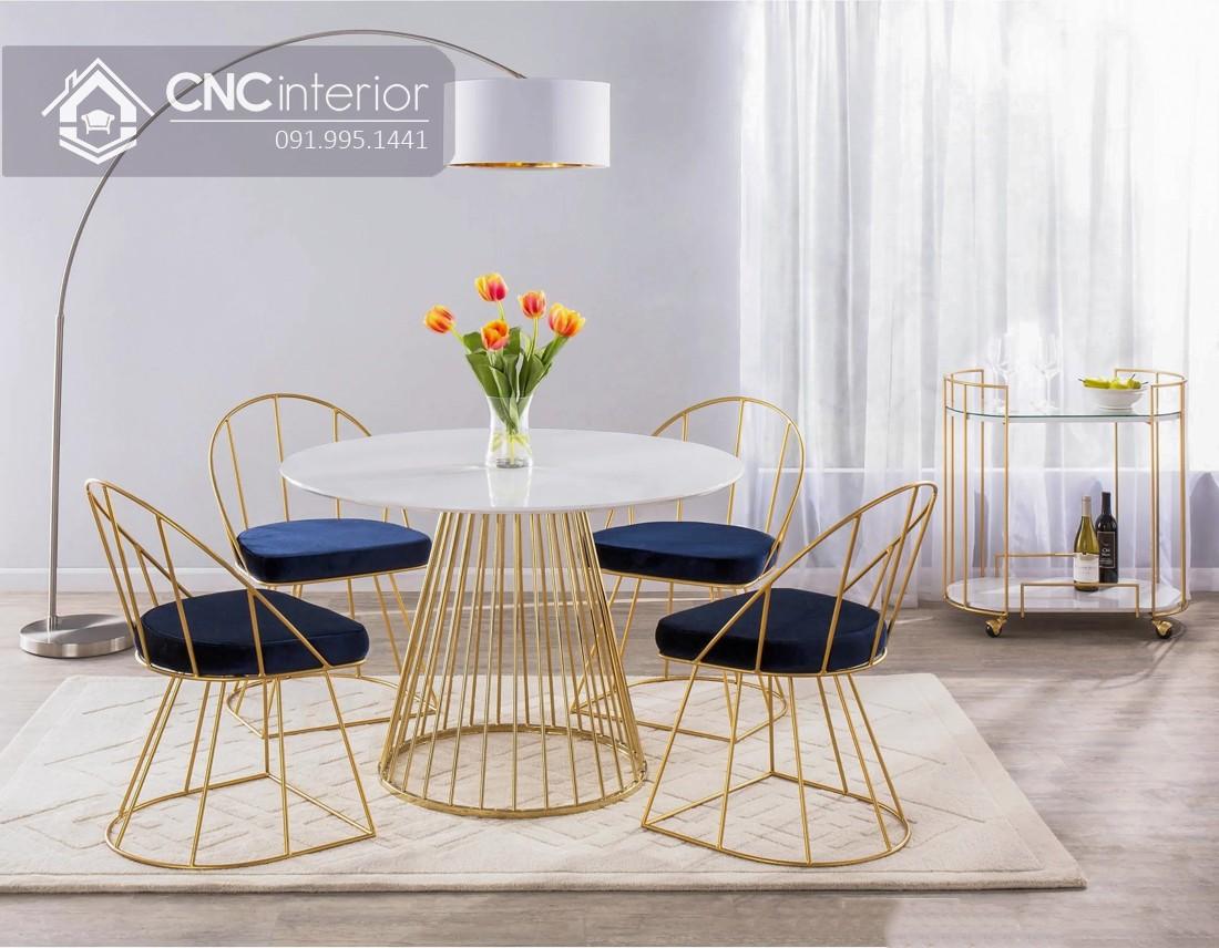 Bộ bàn ăn đẹp CNC 55