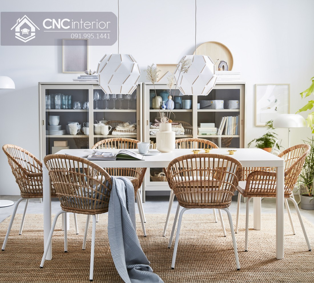 Bộ bàn ăn đẹp CNC 56