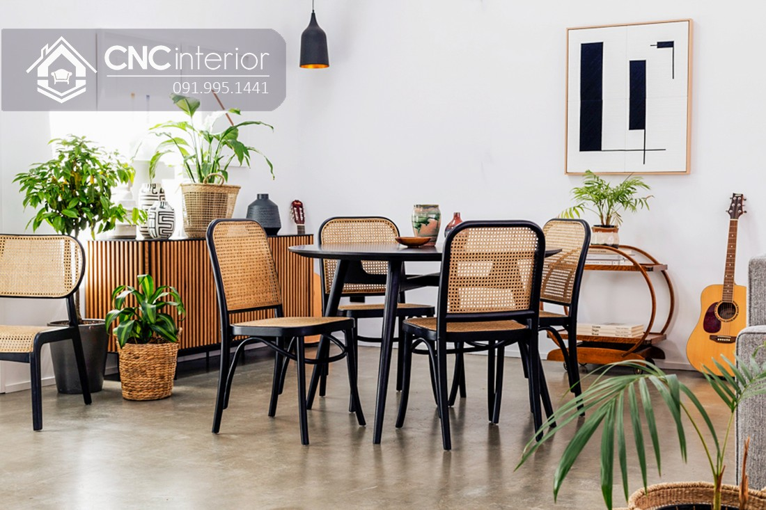 Bộ bàn ăn đẹp CNC 57