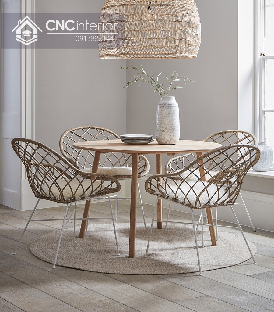 Bộ bàn ăn phong cách Scandinavian CNC 58 1