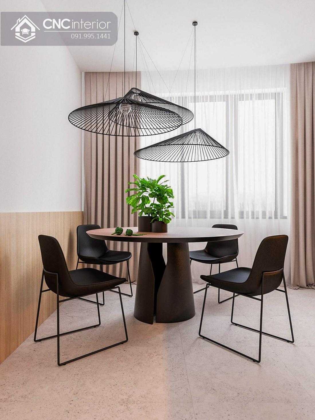 Bộ bàn ăn phong cách Contemporary CNC 59 1