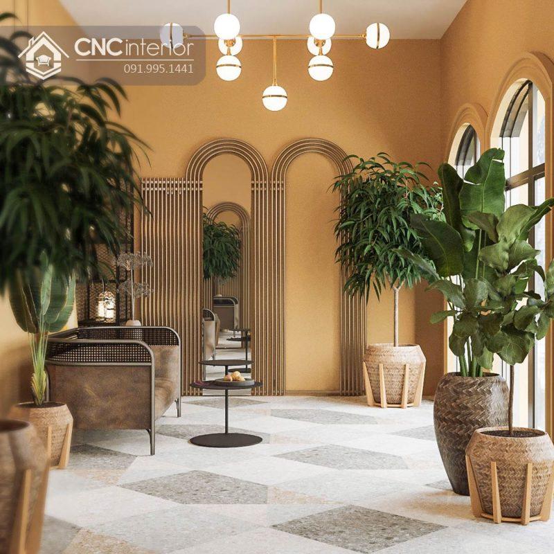 Nội thất CNC - Công trình Spa Romans Hội An - Phong cách Metalic Phương Đông