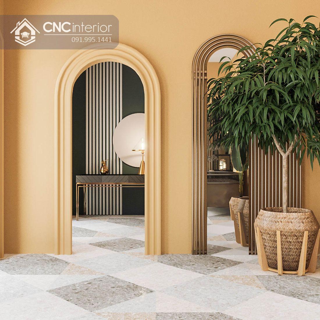 Hành lang Spa Romans Hội An phong cách Art Deco Veranda
