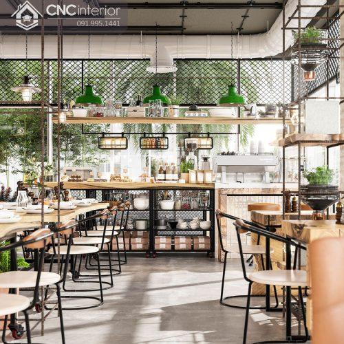 Nội thất CNC - Công trình nhà hàng Industry Tân Phú