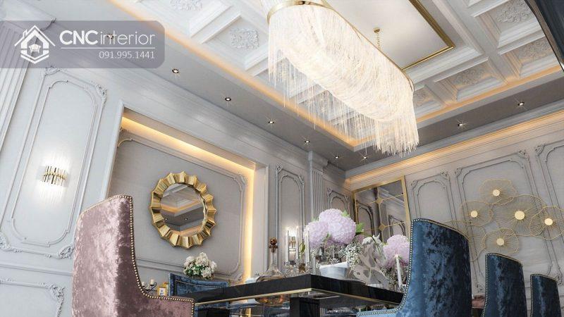 Nội thất CNC - Công trình phòng bếp - Luxury bàn cổ điển - Biệt thự chị Trang