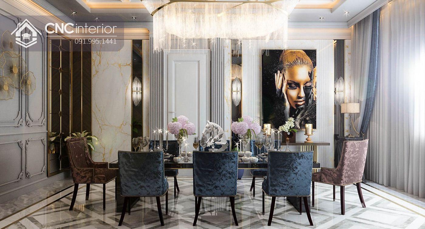Phòng ăn biệt thự Classic chị Trang