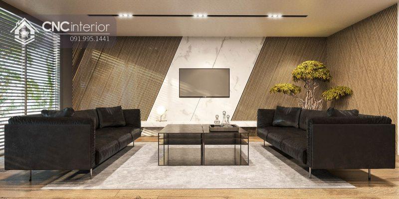 Nội thất CNC - Công trình phòng giám đốc bất động sản Kim Oanh