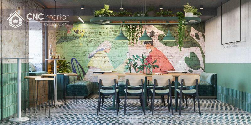 Không gian quán cà phê hiện đại 1