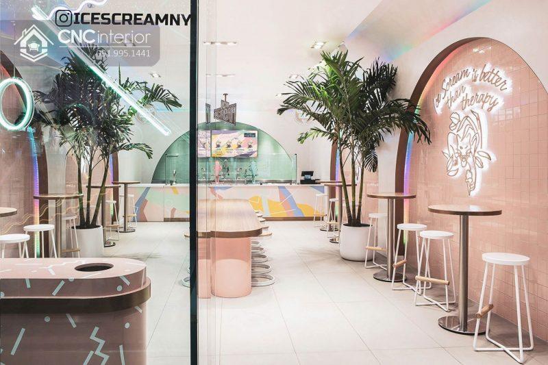 Nội thất CNC - Công trình quán kem Ice Dream