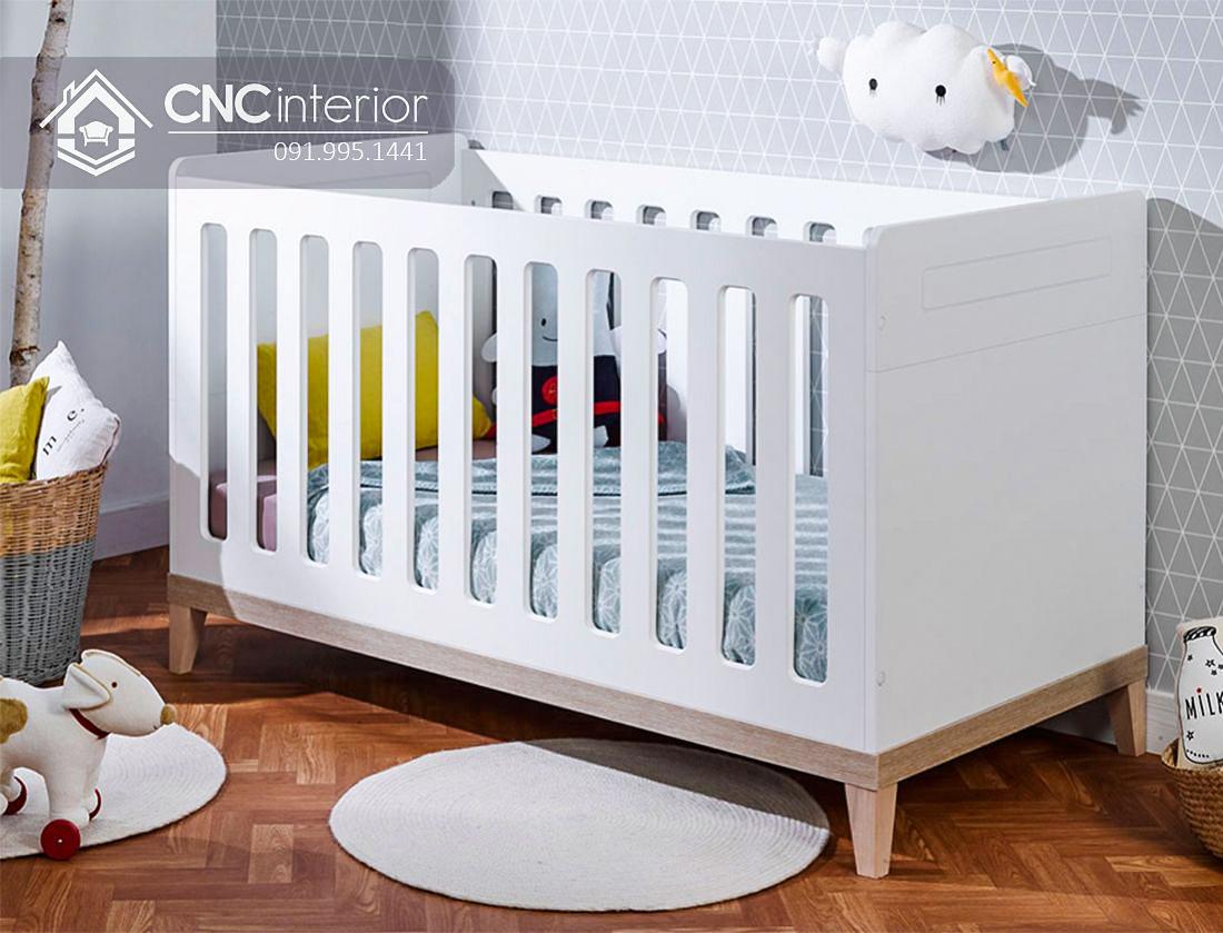 Cũi trẻ em bằng gỗ đơn giản tinh tế CNC 14 1