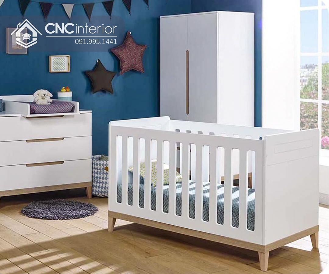 Cũi trẻ em bằng gỗ đơn giản tinh tế CNC 14