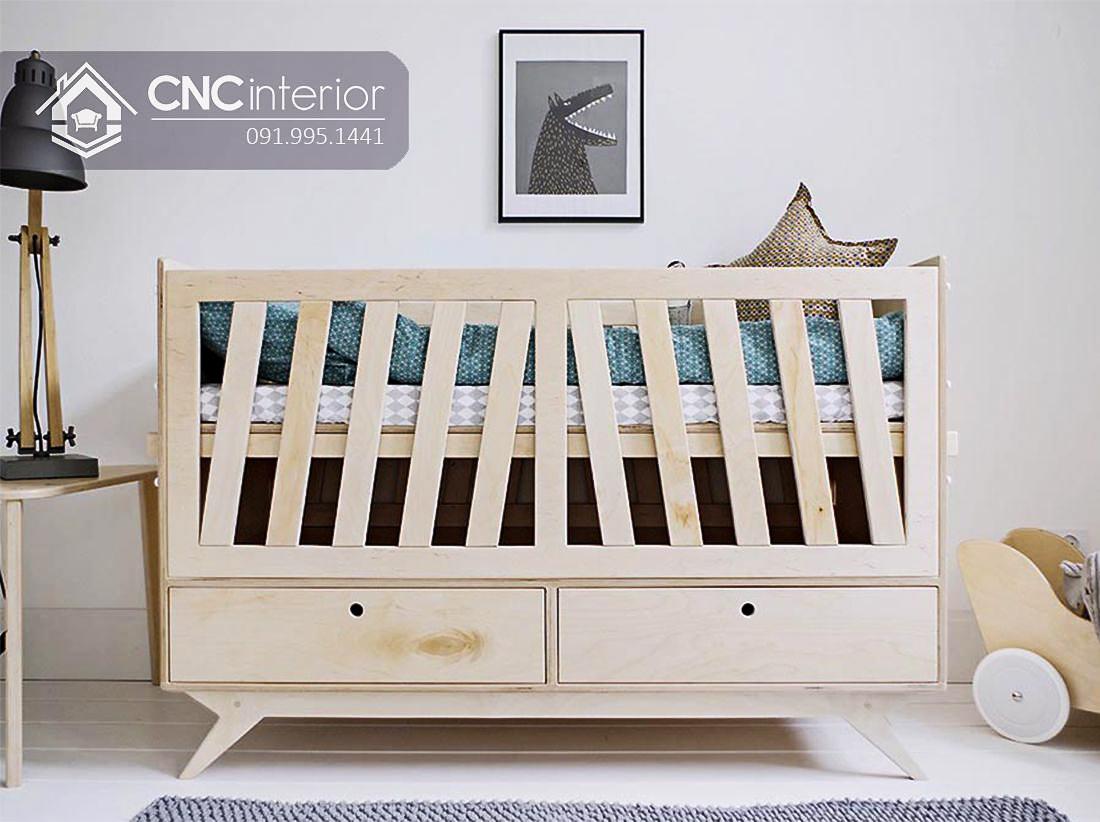 cũi trẻ em bằng gỗ đa năng CNC 16