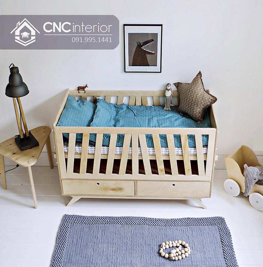 cũi trẻ em bằng gỗ đa năng CNC 16 1
