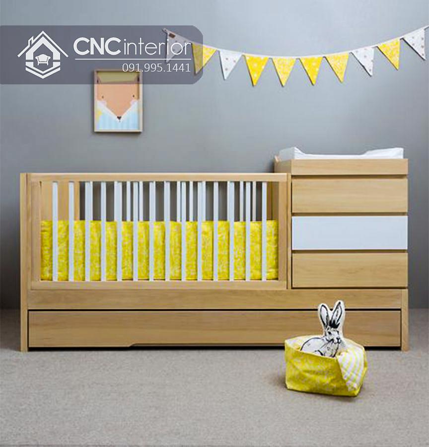 Cũi trẻ em bằng gỗ đa năng hiện đại CNC 21