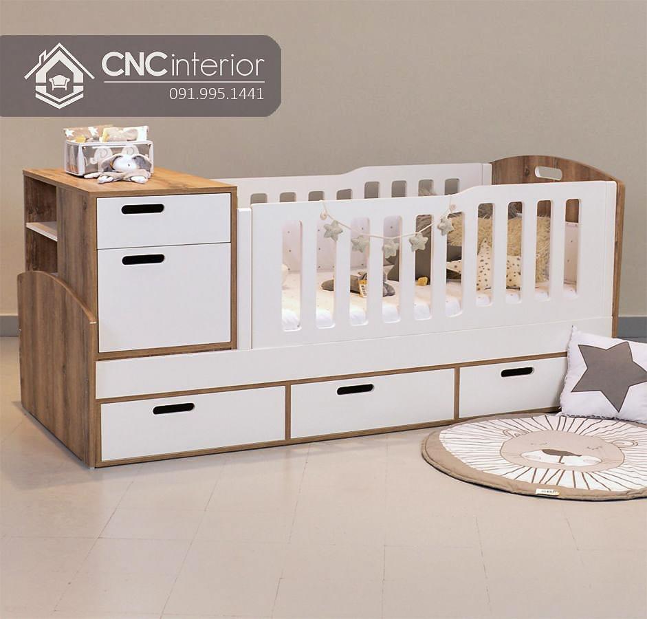 Cũi trẻ em đa năng tích hợp ngăn kéo CNC 25