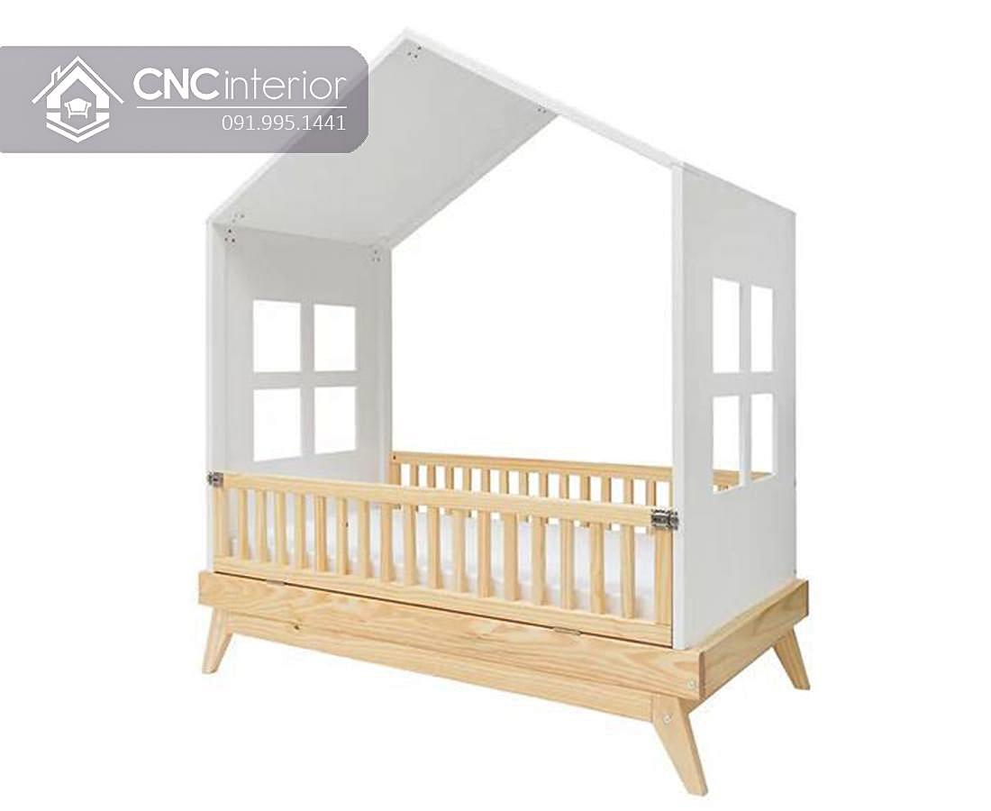 Giường cũi 2 trong 1 hình ngôi nhà đẹp CNC28 1