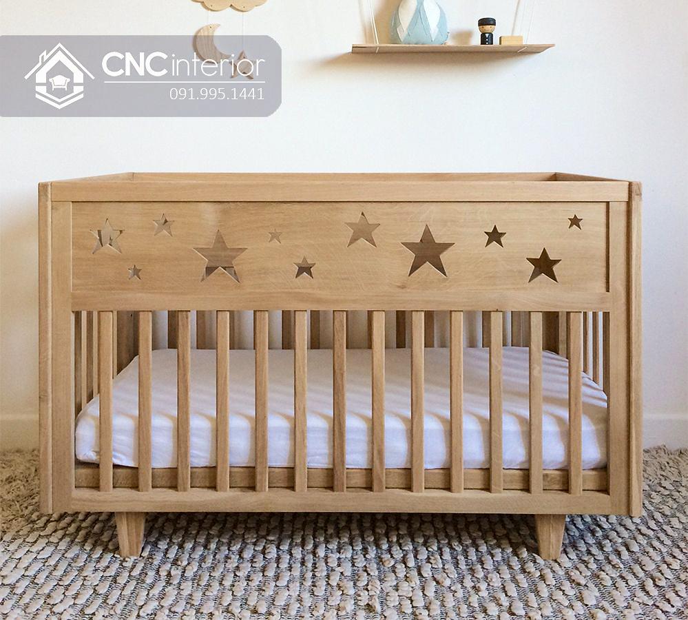 Cũi trẻ em bằng gỗ kiểu truyền thống CNC 29