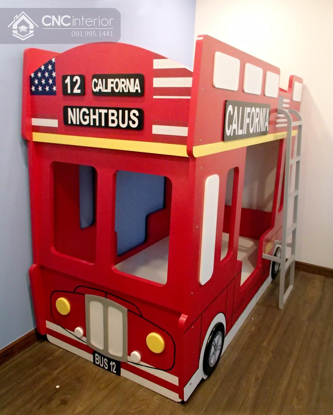 Giường tầng em bé hình xe bus độc đáo CNC 21 3
