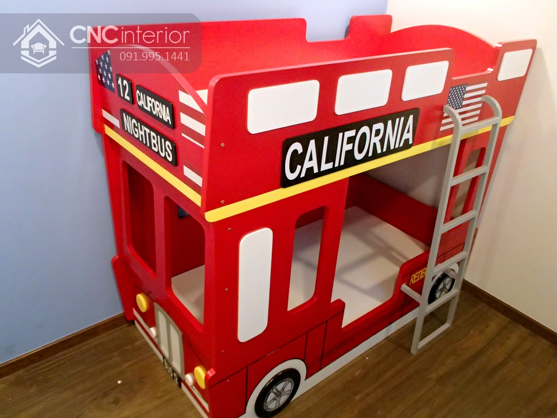 Giường tầng em bé hình xe bus độc đáo CNC 21 4