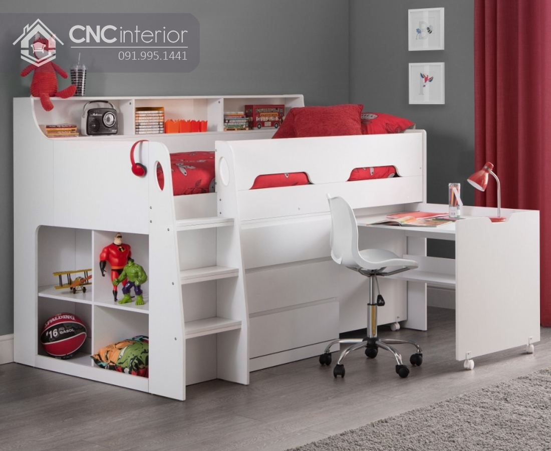 Giường tầng có bàn học cho bé CNC 31 2