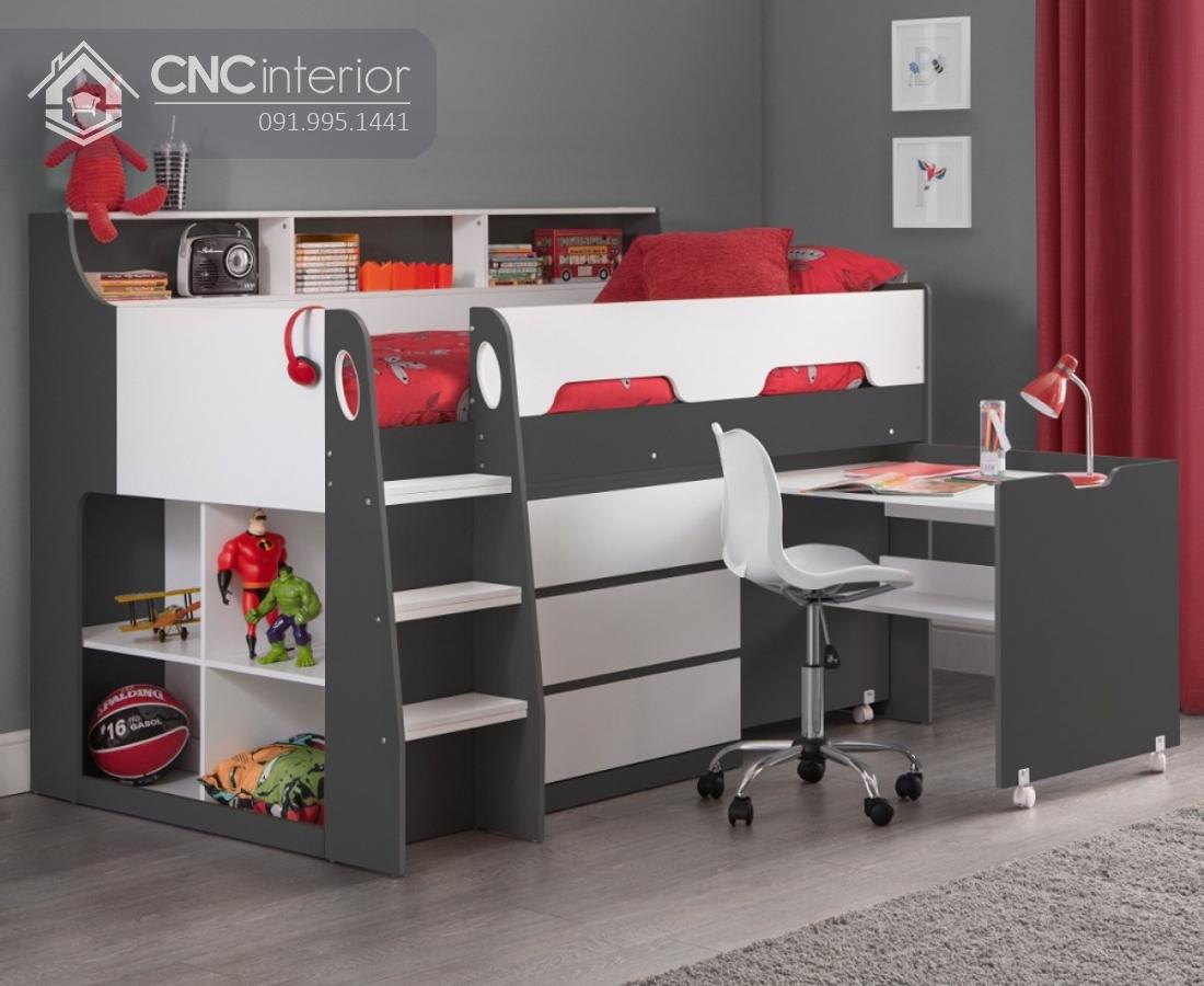 Giường tầng có bàn học cho bé CNC 31