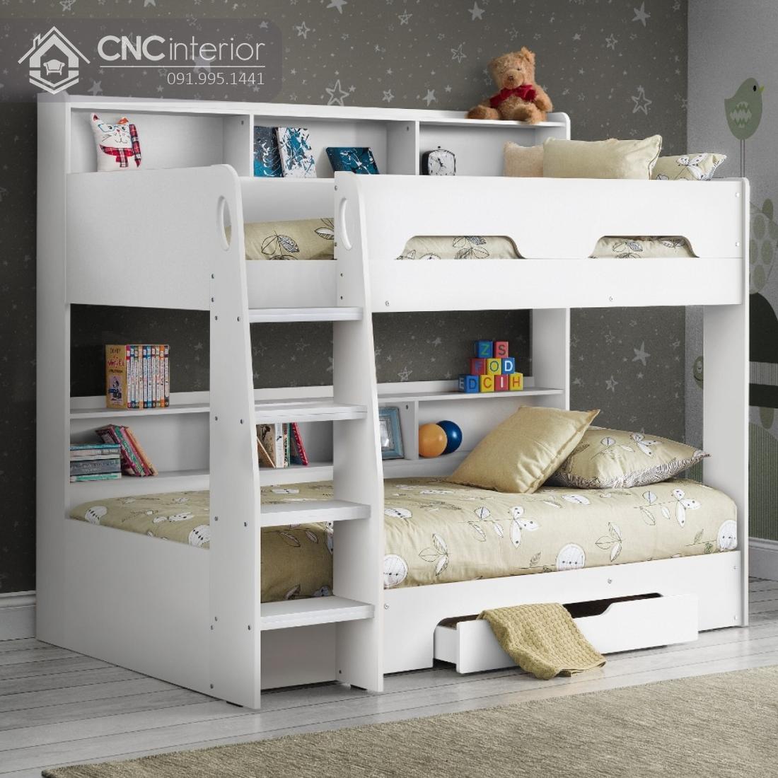 Giường 2 tầng trẻ em đẹp gọn gàng CNC 36