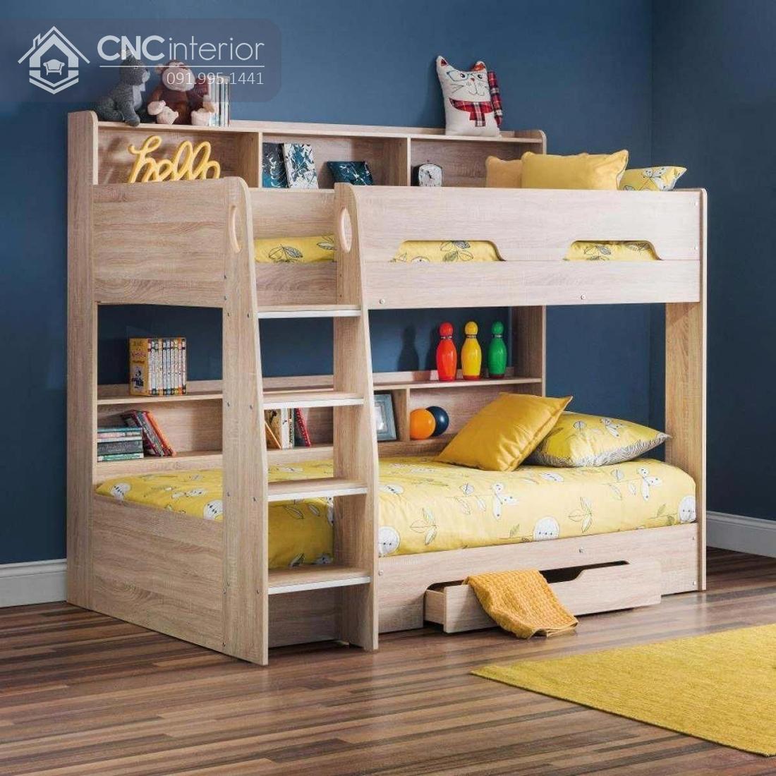 Giường 2 tầng trẻ em đẹp gọn gàng CNC 36 1