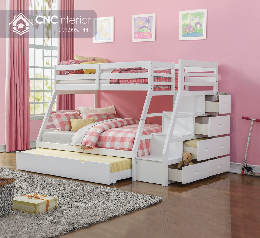 Mẫu giường tầng cho người lớn CNC 01