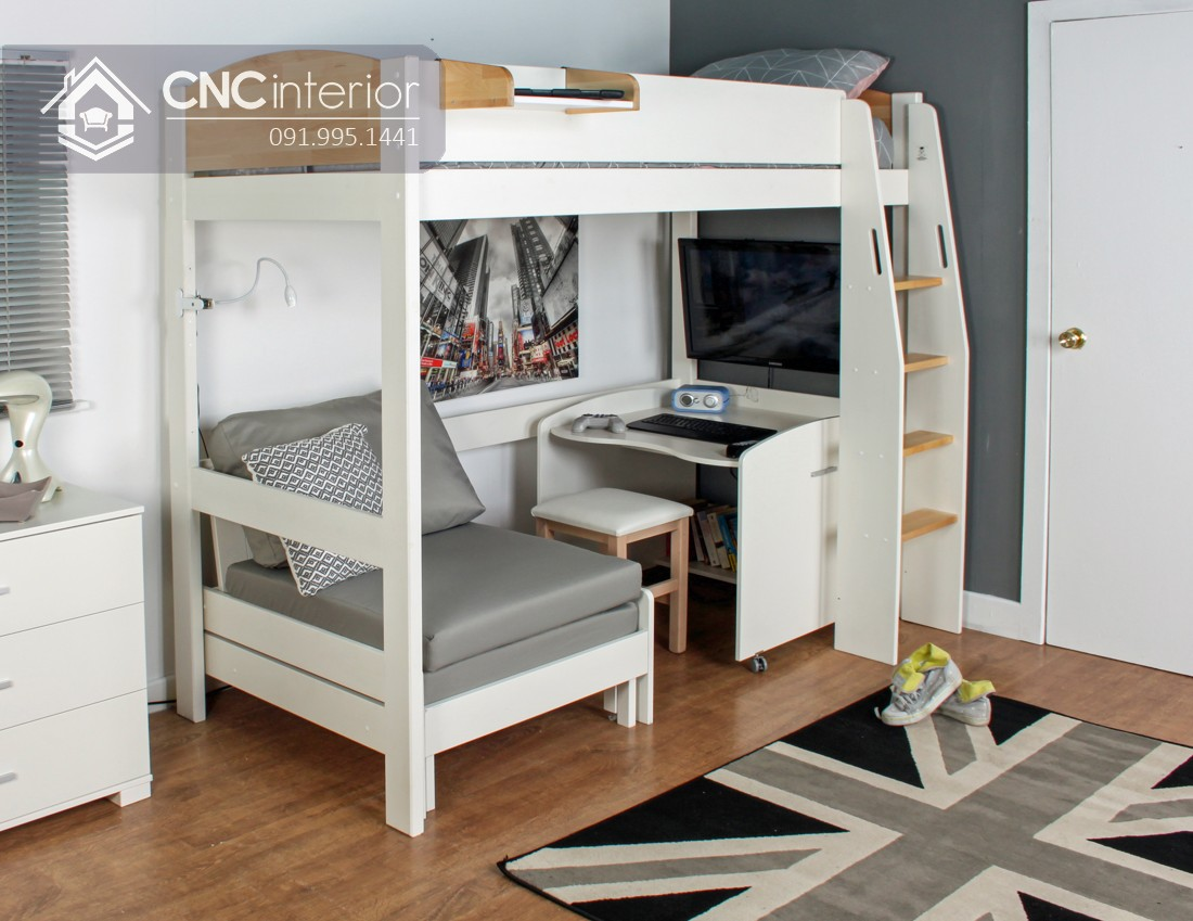 Mẫu giường tầng cho người lớn CNC 06