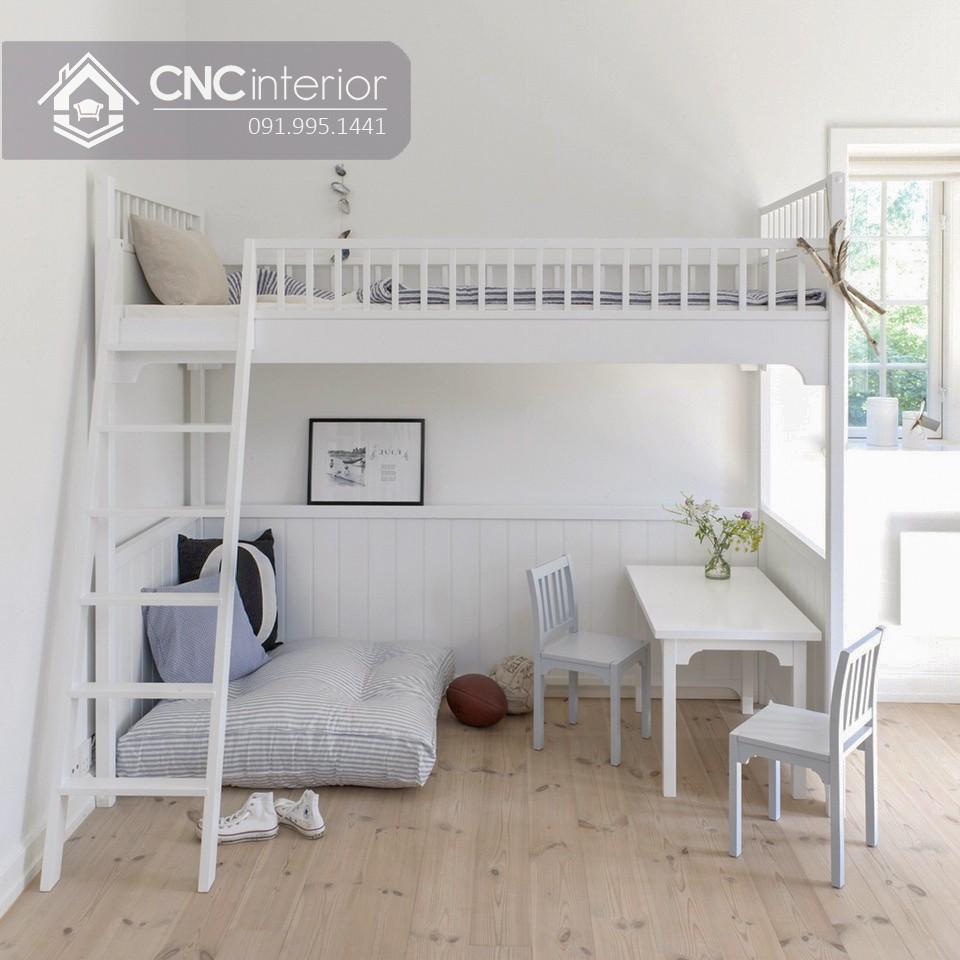 Giường 2 tầng gỗCNC 13