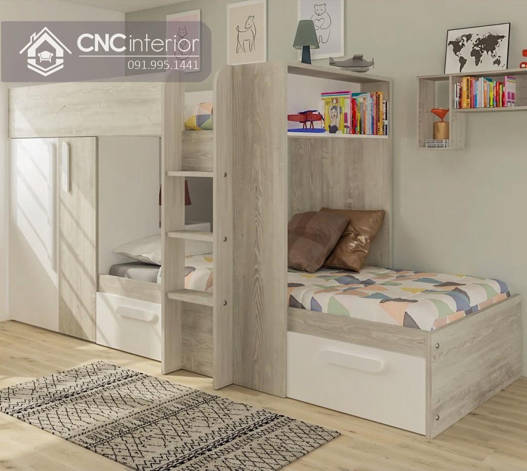 Mẫu giường tầng cho người lớn CNC 15