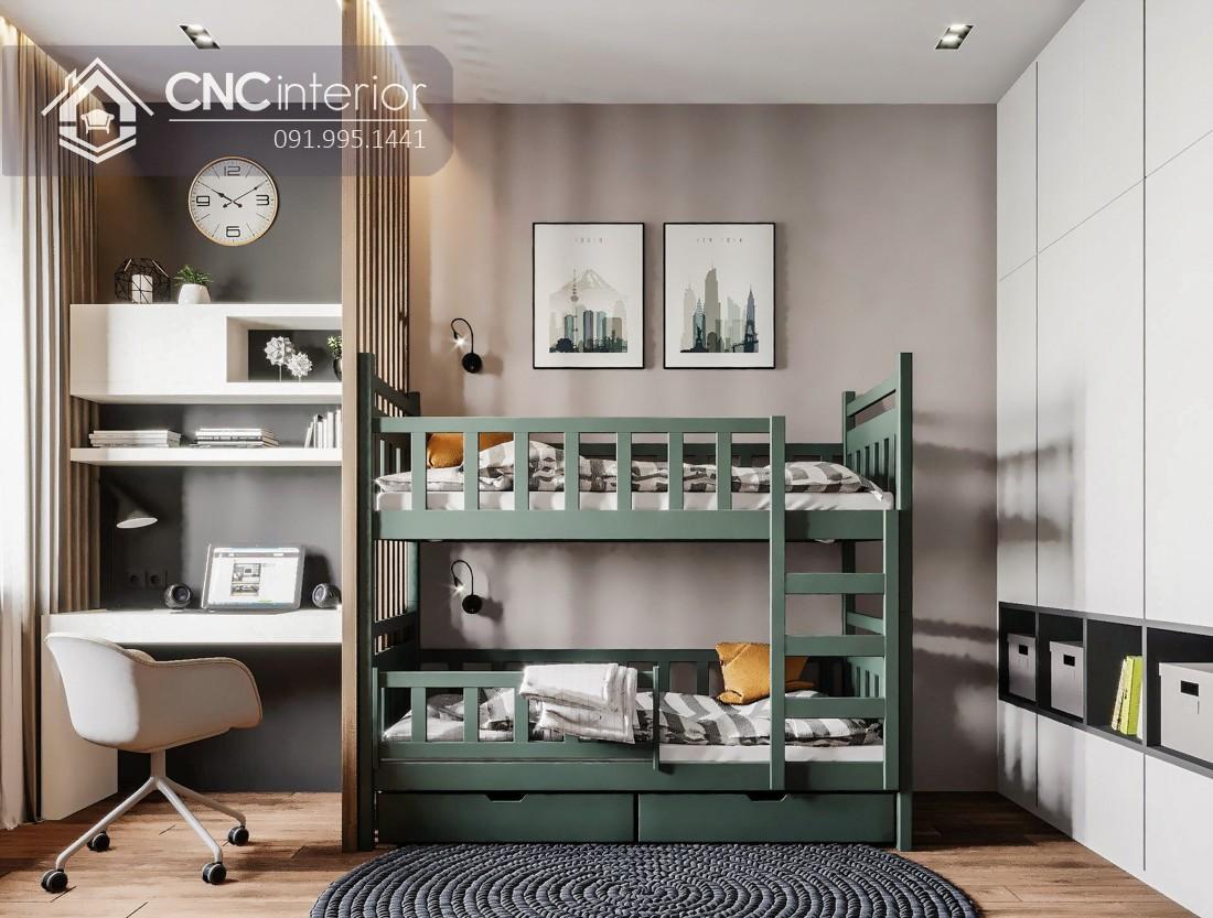 Mẫu giường tầng cho người lớn CNC 21