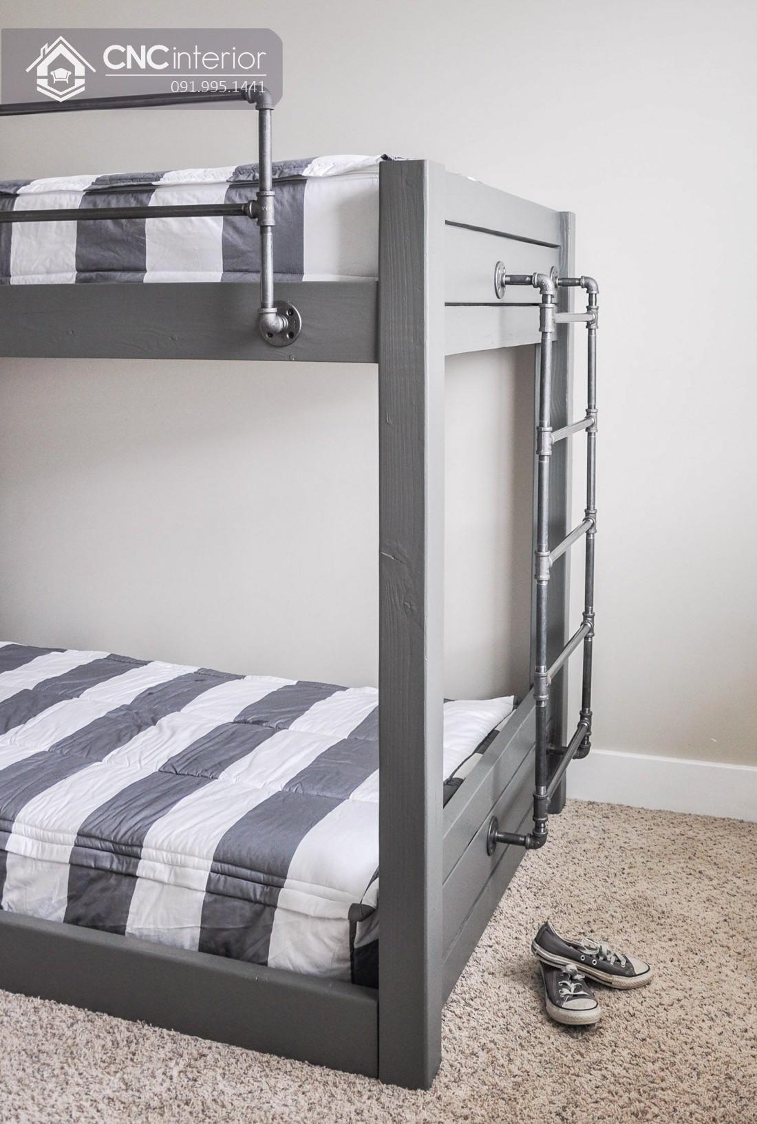 Mẫu giường tầng cho người lớn CNC 04