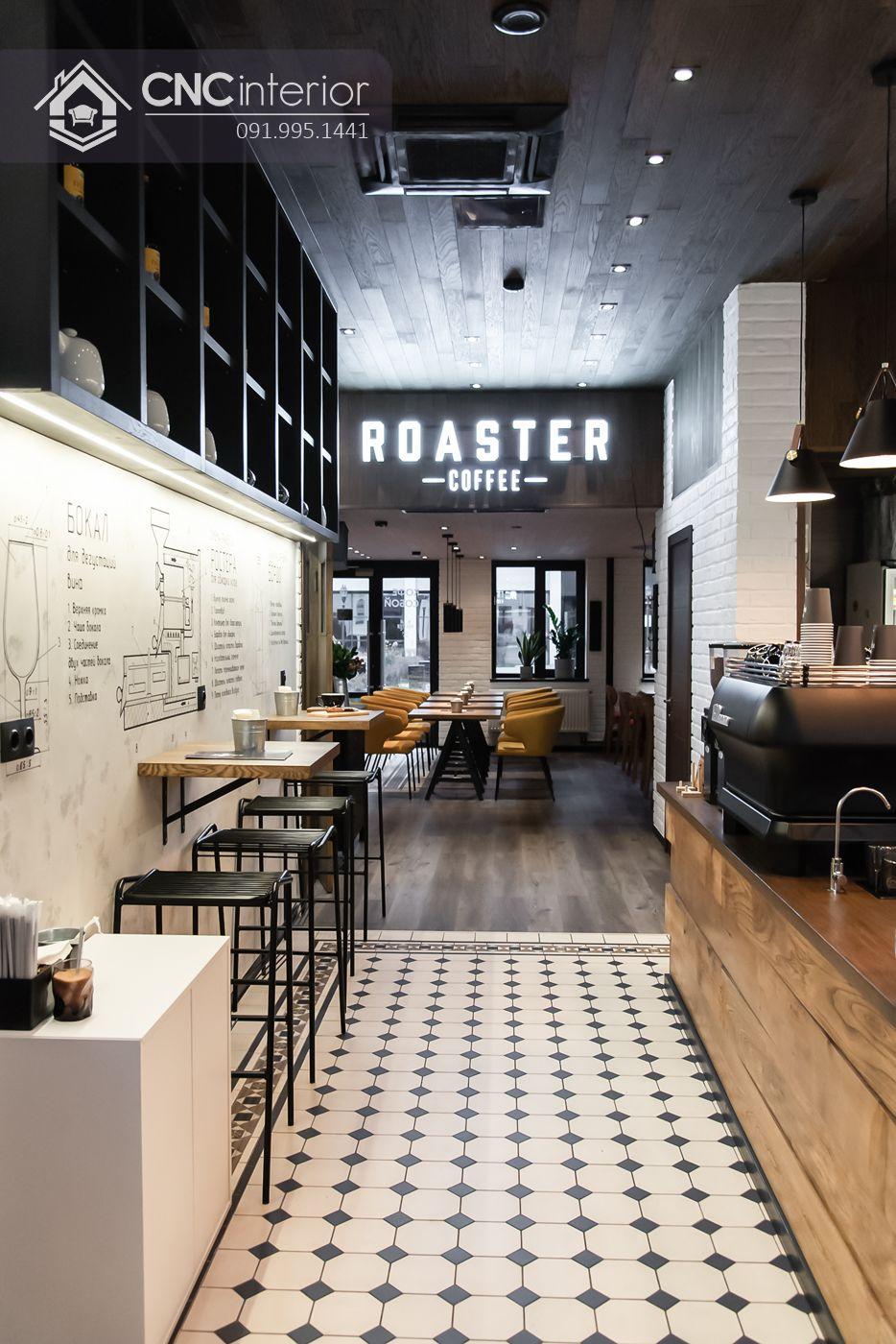 quán cafe Roaster phong cách Bistro.