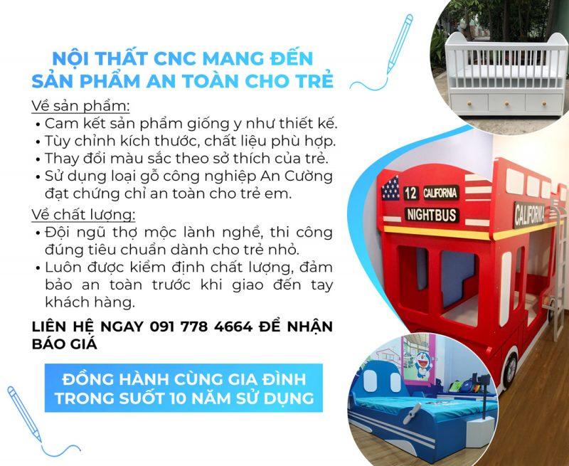 Noi that CNC mang den san pham an toan cho tre 2